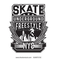 Skate board freestyle typography 6267488daf