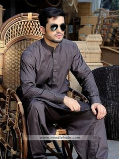 #Plain #kurta shalwar suit for men in liver color  http://www.needlehole.com/plain-kurta-shalwar-for-men-in-liver-color.html Plain kurta shalwar suits by dynasty #shalwar kameez usa. Latest pakistani salwar kamiz designs and mens salwaar kameez collection by dynasty kurta outlets reviews usa