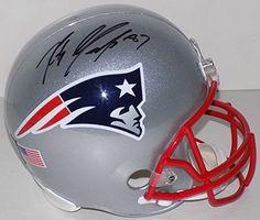 Rob Gronkowski Signed Customized Patriots Full Sz Helmet Flag+Numbers JSA ITP