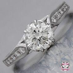 Edwardian Engagement Ring - GIA 1.00ct G/SI Diamond