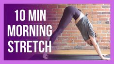 10 min Morning Yoga Full Body Stretch - NO PROPS & ALL LEVELS Youtube Workout, Yoga Youtube, Group Fitness, Wellness Fitness, Become A Yoga Instructor, Full Body Stretch, Body Stretches, Morning Yoga, Vinyasa Yoga