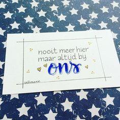 Eigen werk Magda DeGryse Soms heeft men ook deze kaartjes nodig ! #afscheid #handmade #handlettering