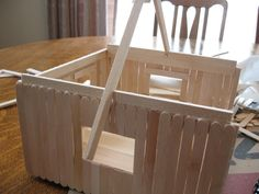 popsicle stick doll house  great christmas present DIY
