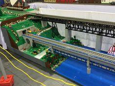 Lego display at train show
