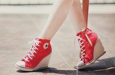 954059e433d Cool n cute converse high for girls High Heel Sneakers