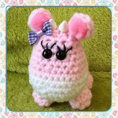 Pink crochet cow amigurumi by MyLittleBeastie on Etsy