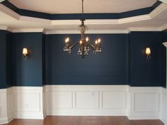 dining room inspiration one room challenge design decor redo remodel home furnis. dining room inspiration one room challenge design decor redo remodel home furnis… dining room inspiration one room challenge design decor redo remodel home furnishing Dining Room Sets, Dining Room Walls, Dining Room Design, Dining Room Wainscoting, Dining Tables, Eclectic Dining Rooms, Formal Dining Rooms, Dark Blue Dining Room, Rustic Wainscoting