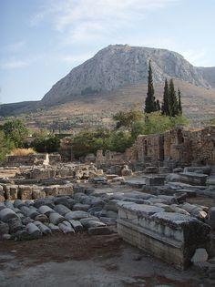 Ruins in Ancient Corinth, Greece; I think I would need weeks to explore the remains of the ancient civilizations