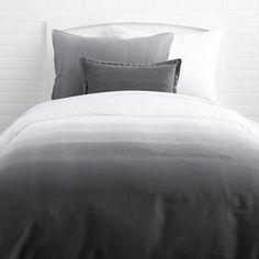 Grey Ombre Duvet Cover and Sham Set More