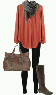 I like all these colors together. Cute and comfy fall look.