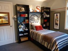 Instead of a night stand, put a bookshelf in between their beds!