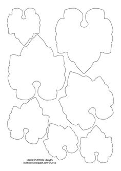 Pumpkin Leaf Pattern Use The Printable Outline For Crafts Creating