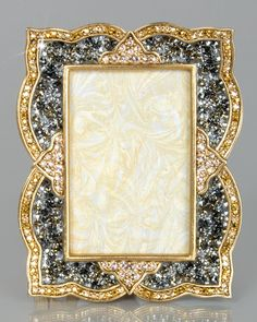 """Jay Strongwater Pave Scallop 2"""" x 3"""" Frame"""