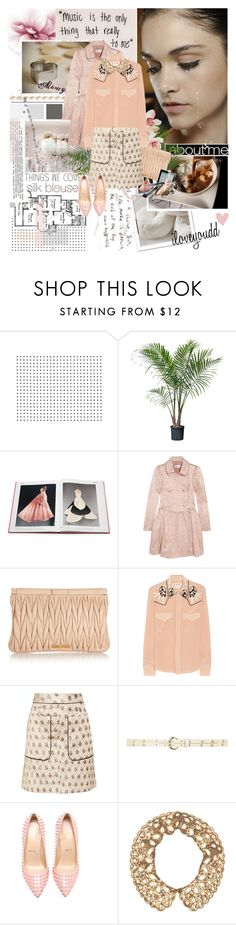 """""""The way to happiness, Keep your heart free from hate, your mind from worry, live simply, expect little, give much."""" by iloveyoudd ❤ liked on Polyvore featuring White Label, Lara, Grotesk, Assouline Publishing, RED Valentino, Miu Miu, Marni, Dorothy Perkins, Christian Louboutin and Cara"""