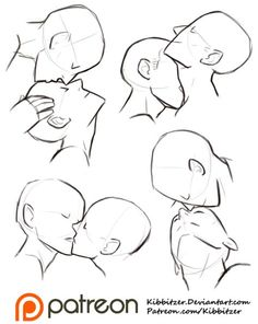 30 Trendy Ideas For Drawing Poses Kiss Art Reference Drawing Base, Figure Drawing, Drawing Drawing, Anatomy Drawing, Anime Mouth Drawing, Neck Drawing, Profile Drawing, Female Drawing, Drawing Studies