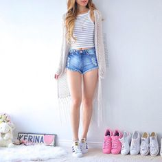 (notitle) - cute outfits and clothing - Cute Teen Outfits, Cute Summer Outfits, Short Outfits, Outfits For Teens, Pretty Outfits, Casual Outfits, Cute Fashion, Look Fashion, Teen Fashion