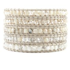 Chan Luu - Natural Mix Wrap Bracelet on Petal Leather, $215.00 (http://www.chanluu.com/wrap-bracelets/natural-mix-wrap-bracelet-on-petal-leather/)
