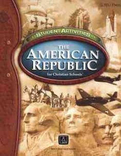 Bob Jones American Republic Student Activities 2nd edition can be used in the Distance Learning Program. These activities present the chronological development of the United States from colonial times to the 21st century.