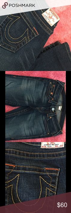 AUTHENTIC TRUE RELIGION Stella Skinny Denim Jeans AUTHENTIC True Religion Jeans.... Style is Stella. Bought from Nordstrom these are super cute skinny style jeans. Great condition. Inseam is 31 inches. True Religion Jeans Straight Leg