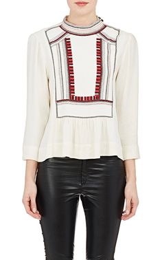Embroidered Cerza Top