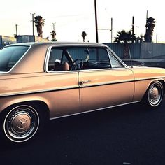 They don't build them like they used to  #Mercedes #w114 #250c #sunset