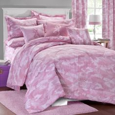 Pink Browning Buckmark Camo 3 Piece Full Size Comforter Set -Bedding Wildlife    #Browning
