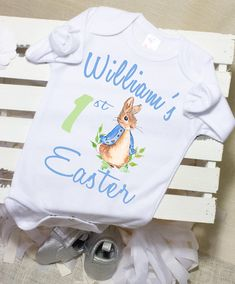 Baby boys girls embroidered Peter Rabbit bunny polo top gift 1st birthday baby s
