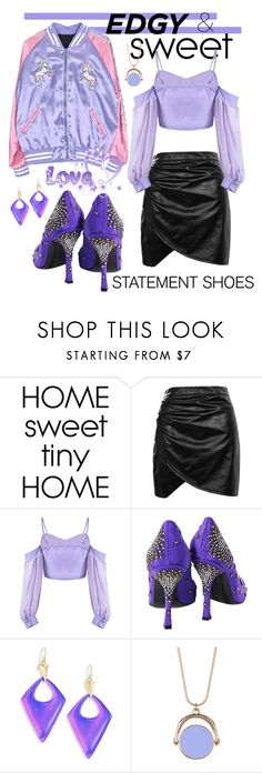 """""""Statement Shoes - Edgy and Sweet"""" by giovanina-001 ❤ liked on Polyvore featuring Boohoo, Sergio Rossi, Alexis Bittar and 14th & Union"""