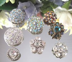 Lot of Old Rhinestone Buttons / eBay