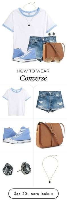 """Baby Blue"" by victoriaann34 on Polyvore featuring Converse, Gap, Ray-Ban and Kendra Scott"