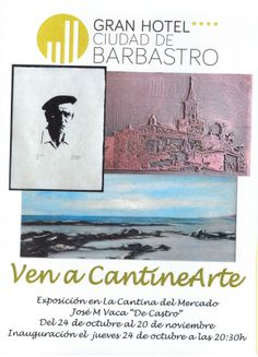 """Cartel exposición de Jose M. Vaca """"De Castro"""""""