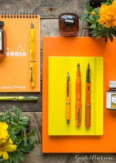 Growing my fountain pen collection with this Marigold inspired set! Love all the bright orange and yellows.