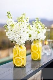 Lemons and stocks would make a lovely center piece for summer BBQ's