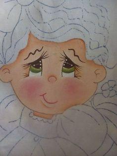 Pintura en tela niña melon # 1 con cony Painting Words, Painting Videos, Tole Painting, Easy Paintings, Painting For Kids, Fabric Painting, Diy Painting, Doll Eyes, Doll Face