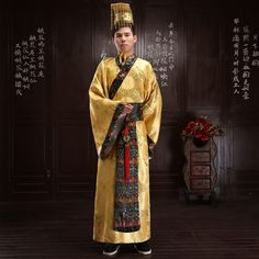 Chinese ancient costumes Male costume robes Qin dynasty Emperor costumes hanfu…