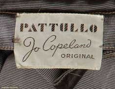 """Patullo Jo Copeland Original"" From 1940s evening gown for upcoming auction"