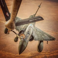 """216 Likes, 3 Comments - Military planes and choppers. (@instawarplanes) on Instagram: """"Dassault Mirage 2000D of French Air Force receiving fuel from a Boeing KC-135 Stratotanker . ➖ ➖…"""""""