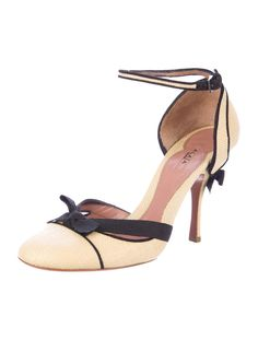 1e9864d0518 ... pumps with black suede trim at counter
