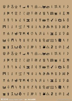 Chinese oracle bone script. The oracle bone script essentially refers to a Shang script. An oracle bone, was a bone with a question to the gods written on it, then it was cracked. The crack would then be interpreted into an answer