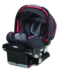 #Graco SnugRide Click Connect 40 in Emma is the ONLY newborn to 2 year infant car seat, providing comfort and protection for babies from 4-40lbs. #BRUGreatTradeIn