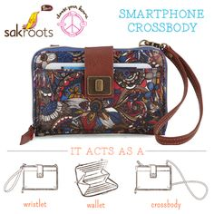 Our newest style is OHHH SO TALENTED! It acts as a wristlet, a wallet and even has a detachable crossbody strap for on the go. Shop the Smartphone Crossbody.