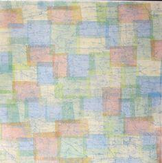 Pastel Blocks 2 Coordinates Printed 12 x 12 Scrapbook Paper is available at Scrapbookfare.