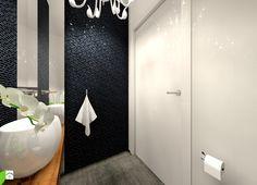 Czarno - białe wc dla gości Łazienka - zdjęcie od MKdezere