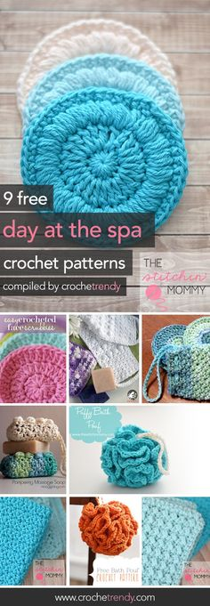 9 Free Spa Day Crochet Patterns  |  via Crochetrendy.com