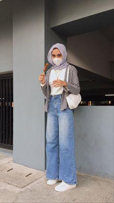Modest Fashion Hijab, Modern Hijab Fashion, Street Hijab Fashion, Modesty Fashion, Casual Hijab Outfit, Hijab Fashion Inspiration, Muslim Fashion, Ootd Fashion, Casual Outfits