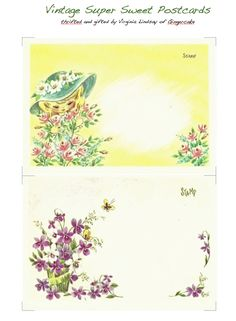 Printable Vintage Postcards