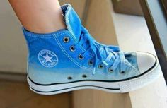 631758a9c9fcb5 Oliver Hunt on. Blue Ombré All Star Converse