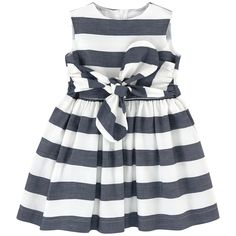 Cotton and linen cloth Fine cotton lining Hourglass cut Crew neck Sleeveless Pleats under the waistband Puff shape at the bottom Invisible zipper at the back Ribbons to tie Two-colored stripes - 173.08 €