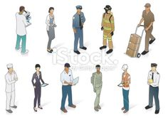 Isometric People In Uniform Royalty Free Stock Vector Art Illustration