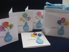 Set of 4 Cute Little Mini Gift Enclosure by MyLittleSomethings, $8.95